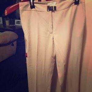 Calvin Klein tan slacks